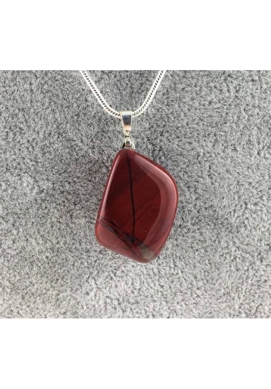 Beautiful Pendant in RED Jasper Tumbled Necklace MINERALS Quality Chakra-2
