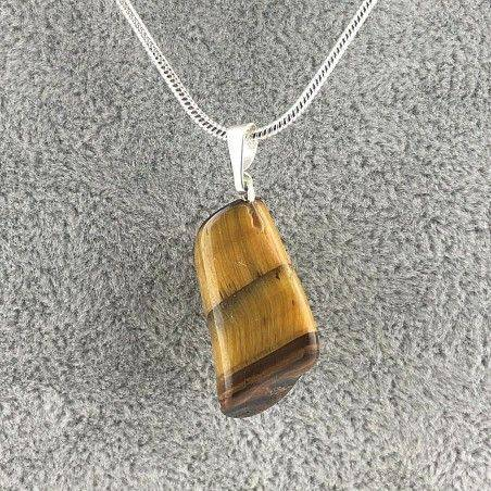 Beautiful Pendant in Tiger's EYE Tumbled Necklace Chakra Reiki MINERALS-1