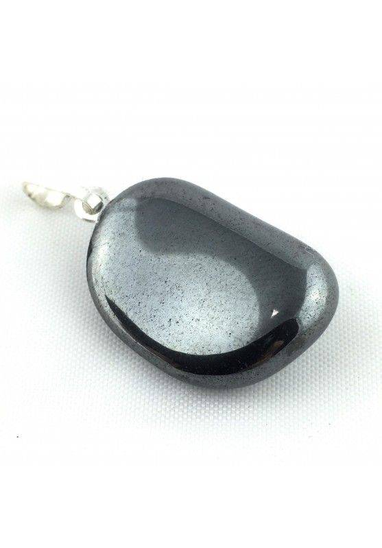 Excellent Pendant in HEMATITE Tumbled Black Polished Necklace High Quality A+ Chakra-3