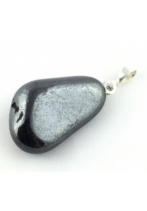 Excellent Pendant in HEMATITE Tumbled Black Polished Necklace High Quality A+ Chakra-4