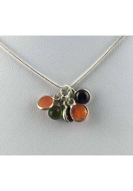 Pendant in CARNELIAN Cabochon Necklace MINERALS High Quality Chakra Reiki A+-1