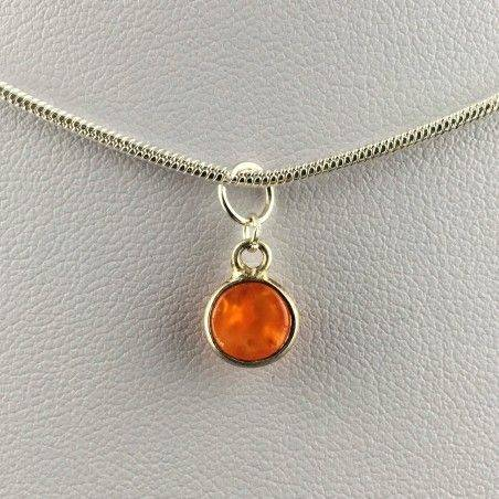 Pendant in CARNELIAN Cabochon Necklace MINERALS High Quality Chakra Reiki A+-2