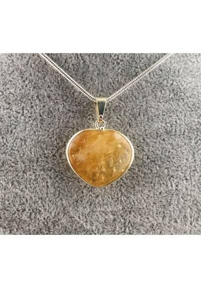 Pendant in CITRINE Quartz Authentic Necklace MINERALS High Quality Chakra Zen A+-1
