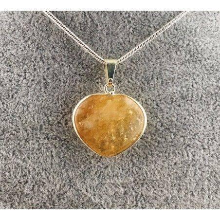 Ciondolo di QUARZO CITRINO Autentico COLLANA Minerali Alta Qualità Chakra Zen A+-1
