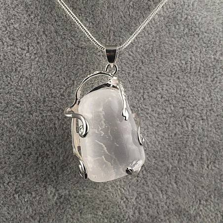 Excellent Pendant in SELENITE Tumbled Stone Handmade Crafts Necklace A+-2