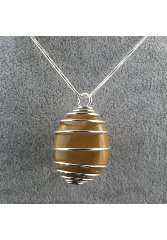 MOOKAITE Jasper Pendant Stone Tumble Handmade Silver Plated Spiral A+-2