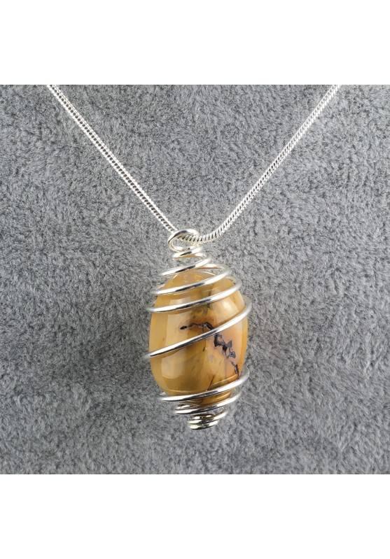 MOOKAITE Jasper Pendant Stone Tumble - LEO GEMINI PISCES Zodiac Silver A+-3