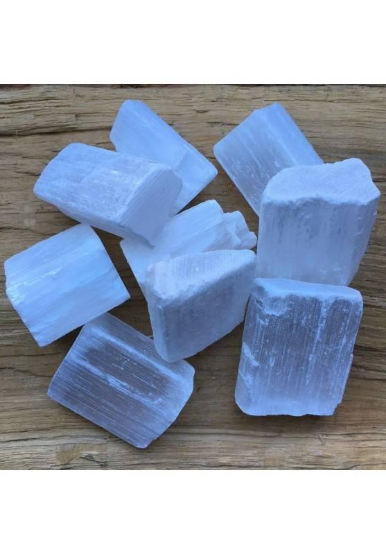 SELENITE GREZZA Brasile MEDIA Minerali Qualità Cristalloterapia Chakra Reiki A+-1