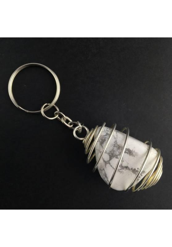 HOWLITE Keychain Keyring - SCORPIO Zodiac SILVER Plated Spiral Necklace-1