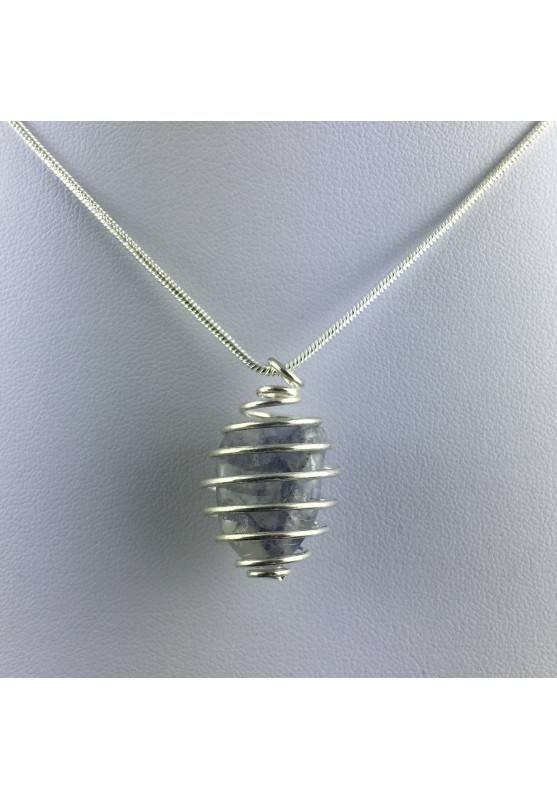 Precious Sapphire Pendant - VIRGO Zodiac Gift IdeSpiral Plated Rare Silver A+-1