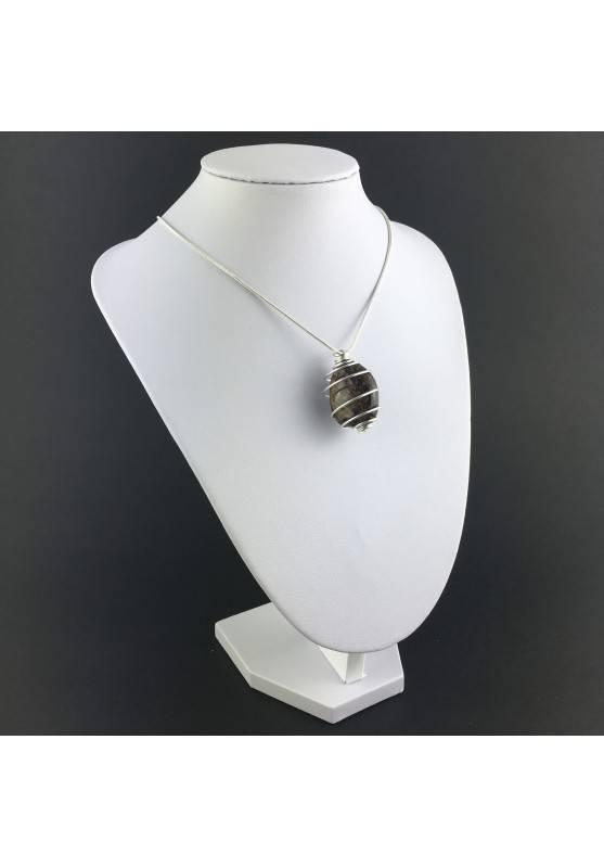 BRONZITE Pendant - Gift Idea Silicato Color Bruno Silver Plated Spiral A+-3