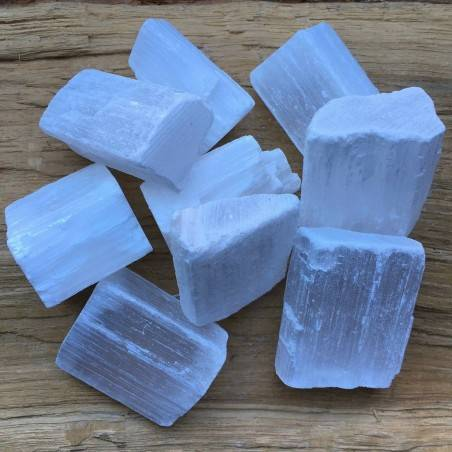 Rough SELENITE BRAZIL Medium Size Crystal Healing A+ [Pay Only One Shipment]-1