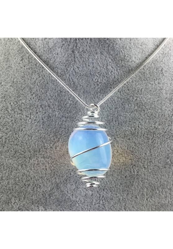 Opal Pendant - CAPRICORN LIBRA Zodiac Silver Plated Spiral Gift Idea-1