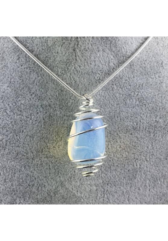 Opal Pendant - CAPRICORN LIBRA Zodiac Silver Plated Spiral Gift Idea-4
