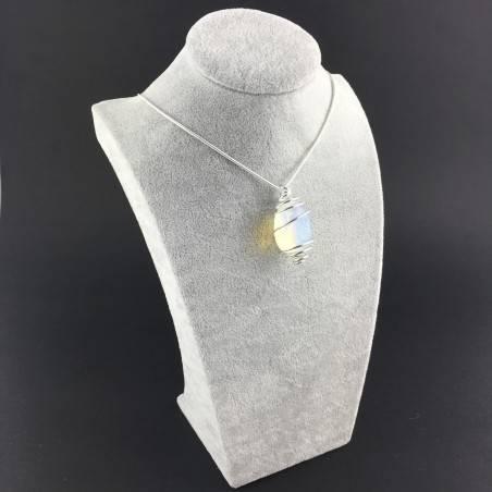 Opal Pendant - CAPRICORN LIBRA Zodiac Silver Plated Spiral Gift Idea-6