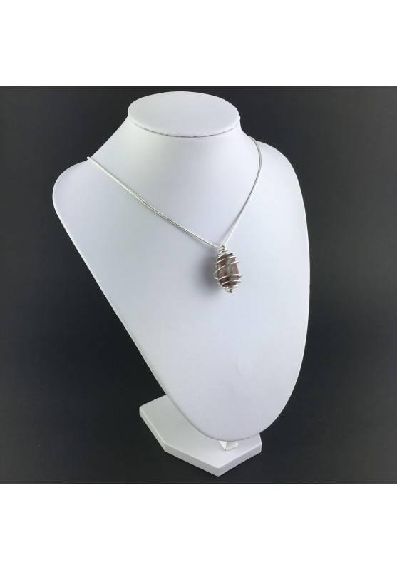 Pendant in HEMATOID QUARTZ - CANCER Zodiac Silver Plated Spiral Gift Idea A+-6