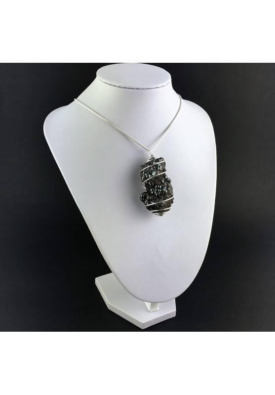 Pendant Globular Hematite - SCORPIO Zodiac Silver Plated Spiral Charm Chain-3