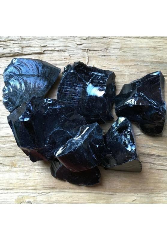 OSSIDIANA SILVER GREZZA Medie Nero Minerali Cristalloterapia Chakra Reiki A+-1