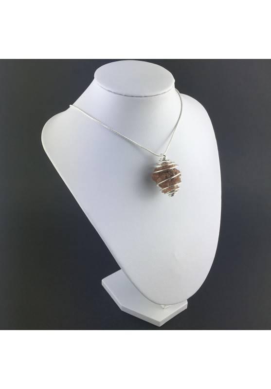 Rough Aragonite Pendant - CAPRICORN Zodiac Silver Plated Spiral Gift Idea-3