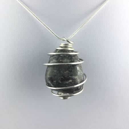 Pendant Pyrite - TAURUS CAPRICORN Zodiac Silver Plated Spiral Gift Idea A+-4