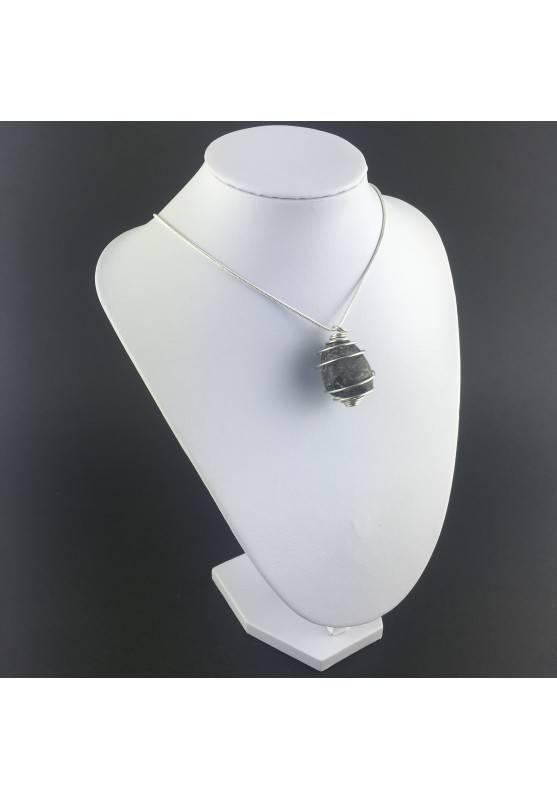 Pendant Pyrite - TAURUS CAPRICORN Zodiac Silver Plated Spiral Gift Idea A+-6