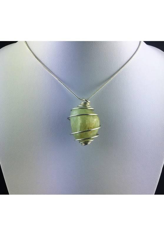 Green Jade Pendant - VIRGO Zodiac Silver Plated Spiral Gift Idea A+-2