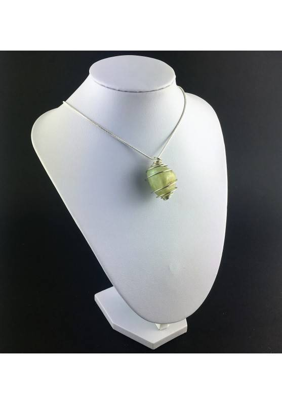 Green Jade Pendant - VIRGO Zodiac Silver Plated Spiral Gift Idea A+-3