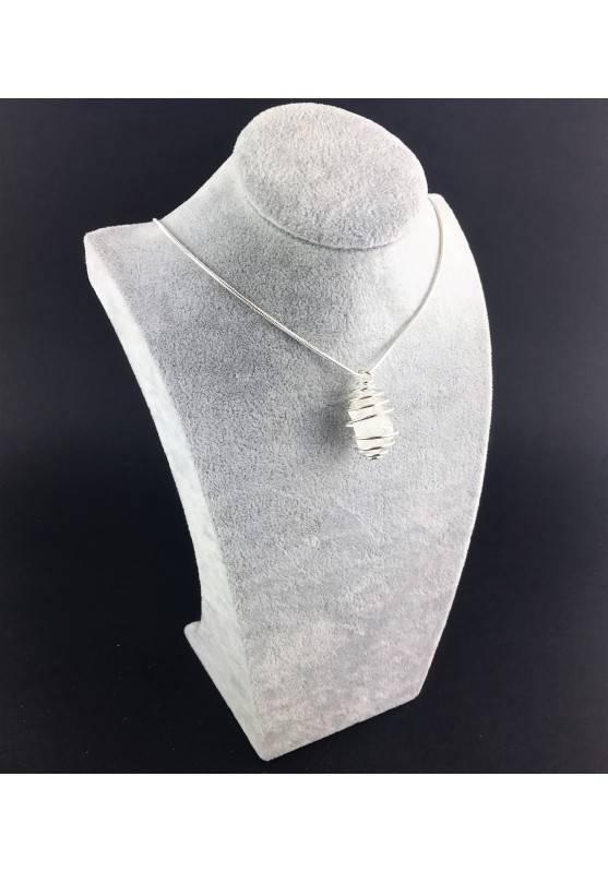 HERKIMER DIAMOND Pendant - Quartz Handmade SILVER Plated Spiral Gift Idea A+-6