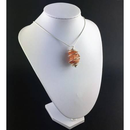 Rough Opal Pendant - CAPRICORN LIBRA Zodiac Silver Plated Spiral Healing A+-3