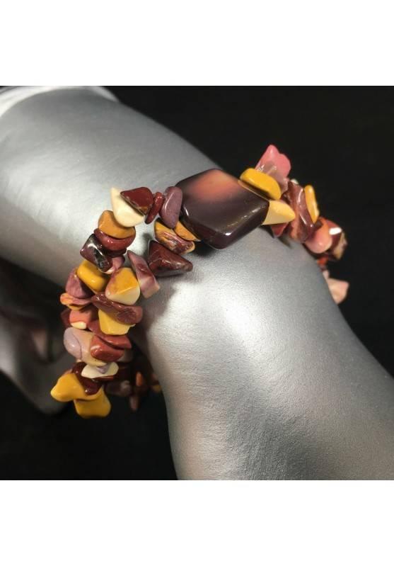 Mookaite Jasper Bracelet Natural Gemstone Chips Crystal Healing Chakra A+-1
