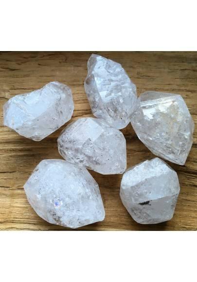 ELESTIAL QUARTZ HYALINE Double Terminated Medium Crystal Healing Chakra A+-1