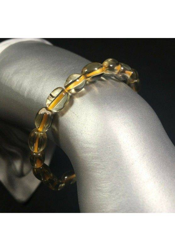 Elasticated Bracelet in Authentic CITRINE QUARTZ Yellow Crystal Healing Chakra A+-1