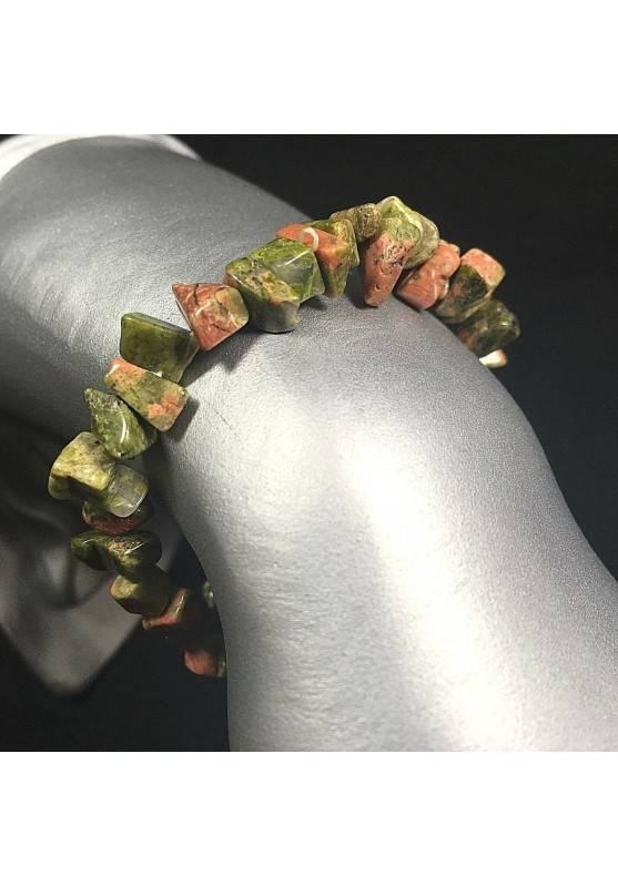 Bracciale in Chips di UNAKITE Qualità Braccialetto Cristalloterapia Chakra A+-1
