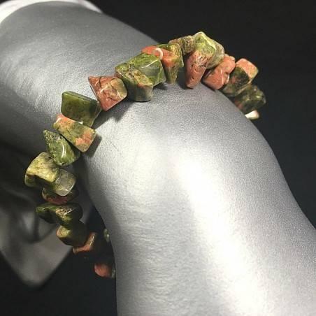 UNAKITE Chips Bracelet High Quality Crystal Healing Chakra A+-1