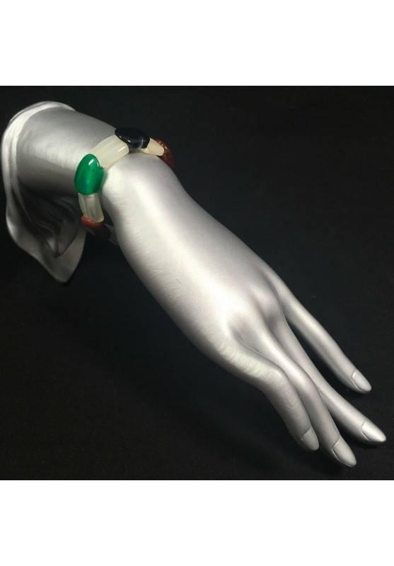 Mixed AGATE Bracelet MINERALS Crystal Healing Chakra Reiki A+-2