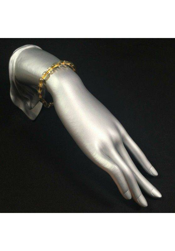 Bracelet in Authentic CITRINE QUARTZ Yellow - VIRGO ARIES GEMINI Reiki-2