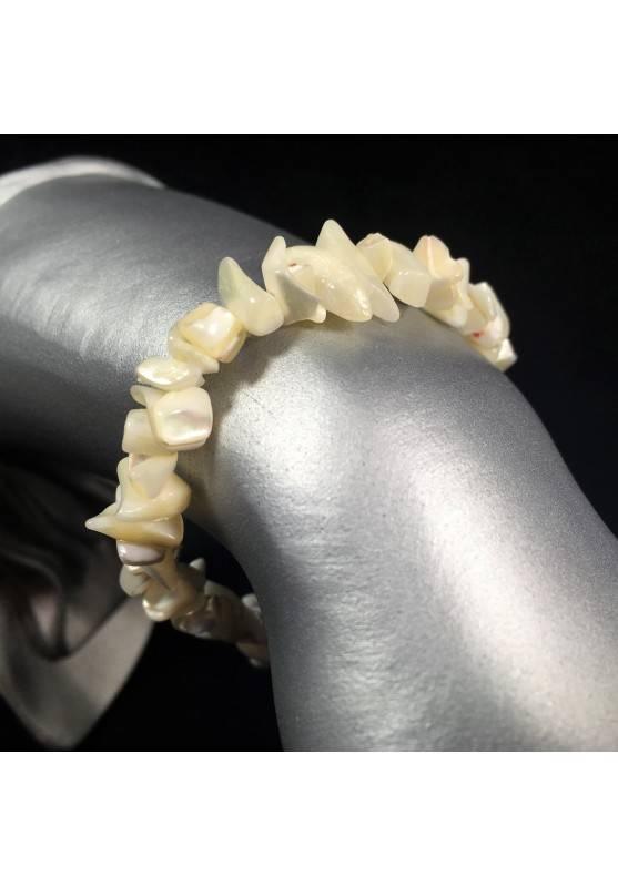 Bracciale in Chips di MADREPERLA Braccialetto Cristalloterapia Chakra Reiki A+-1