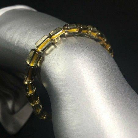 Bracelet in SMOKED CITRINE QUARTZ Rare - VIRGO ARIES GEMINI Elasticated-1