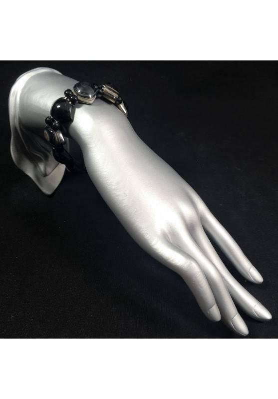 NATURAL Buddha's Eye AGATE Bracelet Polished Gift Idea Crystal Healing A+-2