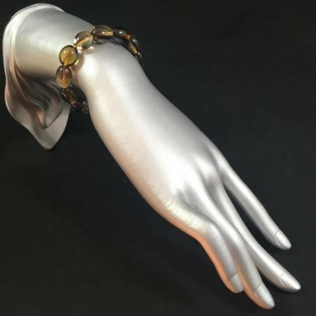 Smoked QUARTZ Bracelet MINERALS Crystal Healing Chakra Reiki A+-2