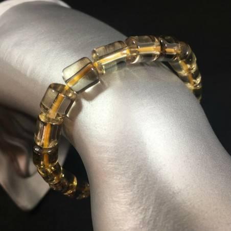 SMOKED CITRINE QUARTZ Elasticated Bracelet  Crystal Healing Zen RARE STONE A+-1
