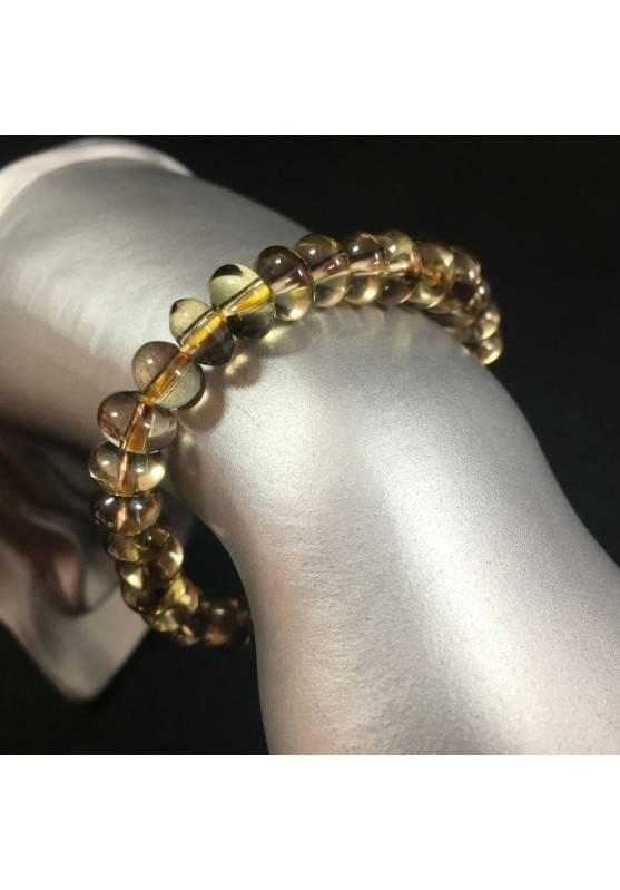 Smoked QUARTZ Bracelet MINERALS Crystal Healing Chakra Reiki A+-1