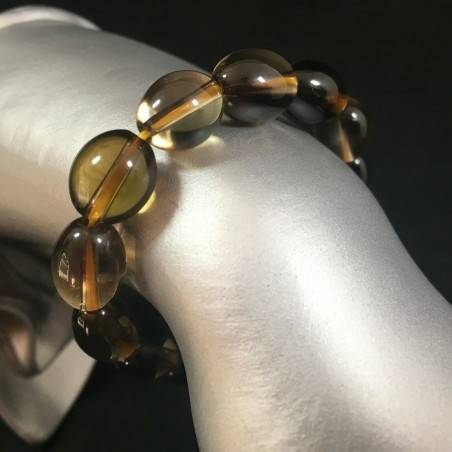 Smoked QUARTZ Bracelet Elasticated Crystal Healing - CAPRICORN SAGITTARIUS A+-1