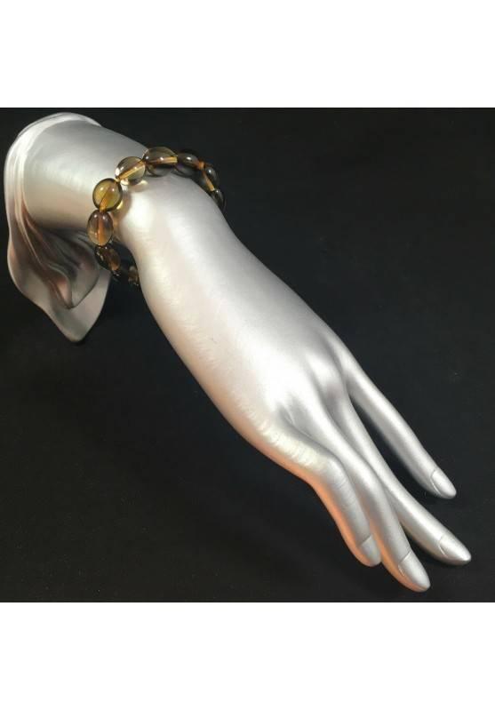 Smoked QUARTZ Bracelet Elasticated Crystal Healing - CAPRICORN SAGITTARIUS A+-2