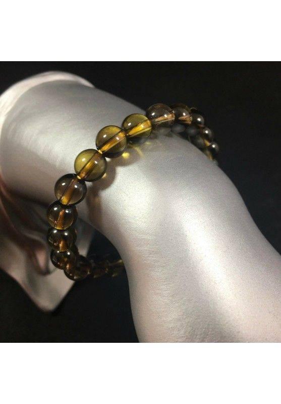 Smoked QUARTZ Spherical Beads Bracelet - CAPRICORN SAGITTARIUS Zodiac Zen A+-1