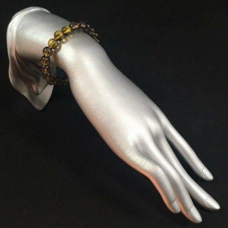 Smoked QUARTZ Spherical Beads Bracelet - CAPRICORN SAGITTARIUS Zodiac Zen A+-2