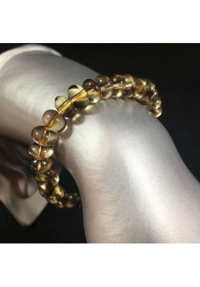 Bracelet in SMOKED QUARTZ  Gift Idea Crystal Healing Zodiac CAPRICORN SAGITTARIUS-1