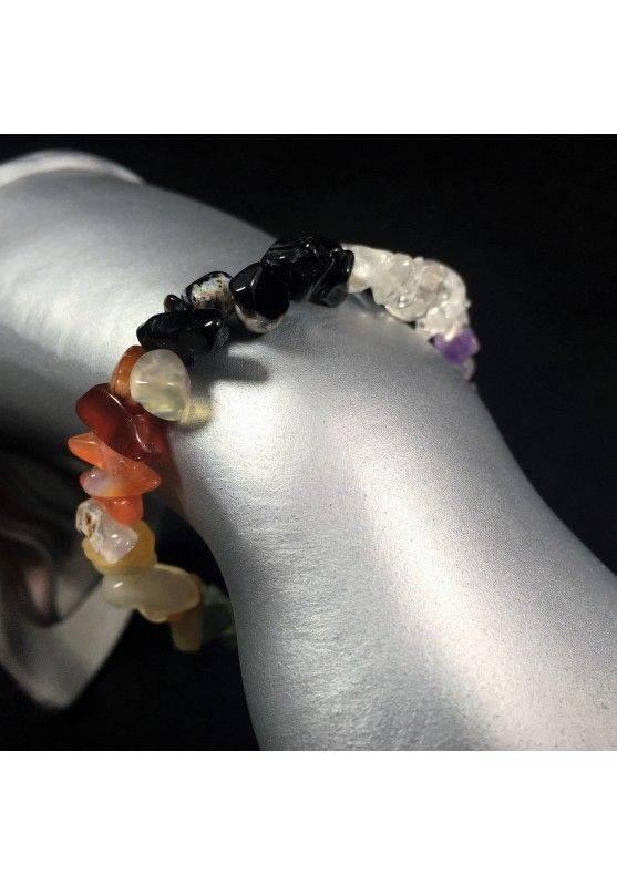 CARNELIAN AGATE Clear QUARTZ SODALITE Bracelet Crystal Healing A+-2