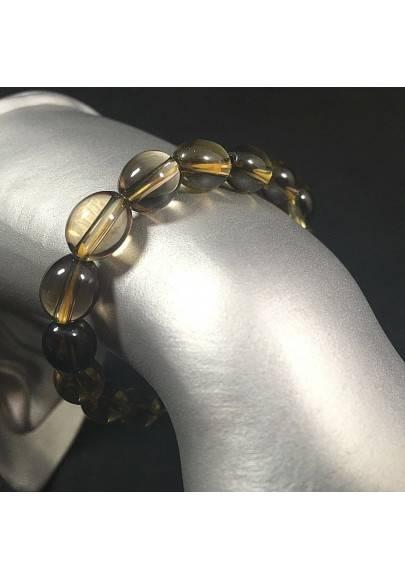 Smoked QUARTZ whit CITRINE QUARTZ Bracelet Crystal Healing Reiki Zen A+-1