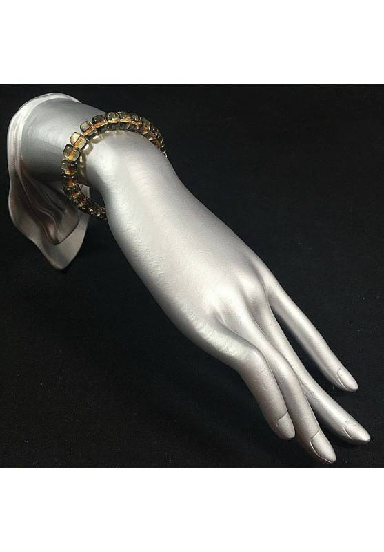 Bracelet in SMOKED QUARTZ  MINERALS Crystal Healing Chakra Reiki A+-2